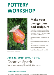 Saturday Workshop, June 29th June 2019